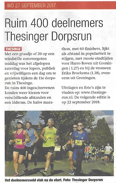 Noorderkrant 27septemberr2017 Thesinge klein