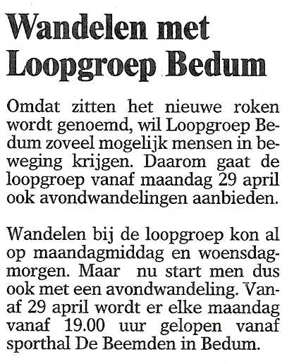 OmmelanderCourant 23april2019 avondwandelen